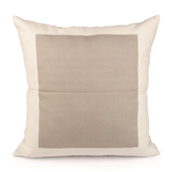 """federa cuscino in cotone """"Fanis"""" fantasia bordo/cornice colore grezzo doubleface"""
